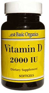 Basic Organics Vitamin D 2000 IU - 30 Softgels