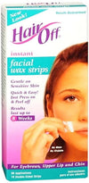 HairOff Facial Wax Strips 18 ea