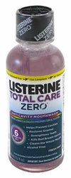 Listerine Total Care Zero Anticavity Mouthwash  Mint Travl Size-3.2oz