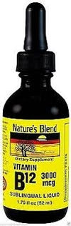 Nature's Blend Vitamin B-12 3000mg Sublingual Raspberry Flavor - 52 ml