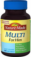 Nature Made Multi For Him Dietary Softgels Original Formula - 60 ct