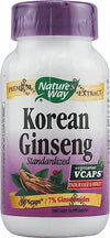 Nature's Way Korean Ginseng Standardized -- 60 Vcaps