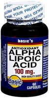 Basic Vitamins Alpha Lipoic Acid 100Mg Caps 1X60 Ea