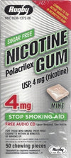 Rugby Sugar Free Nicotine Polacrilex Gum Mint 4 mg - 50 ct