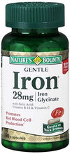 Nature's Bounty Gentle Iron 28 mg Glycinate - 90 Capsules