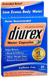 Diurex Water Capsules - 21 each