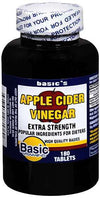 Basic Vitamins Apple Cider Vinegar Extra Strength - 180 tabs