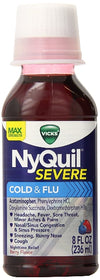 Vicks Flu Nighttime Relief Berry Flavor Liquid 8 oz