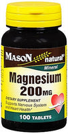 Mason Natural Magnesium 200 mg - 100 Tablets