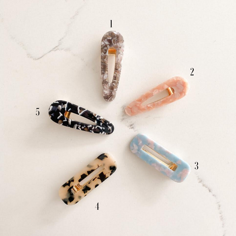 MARBLED HAIR CLIPS