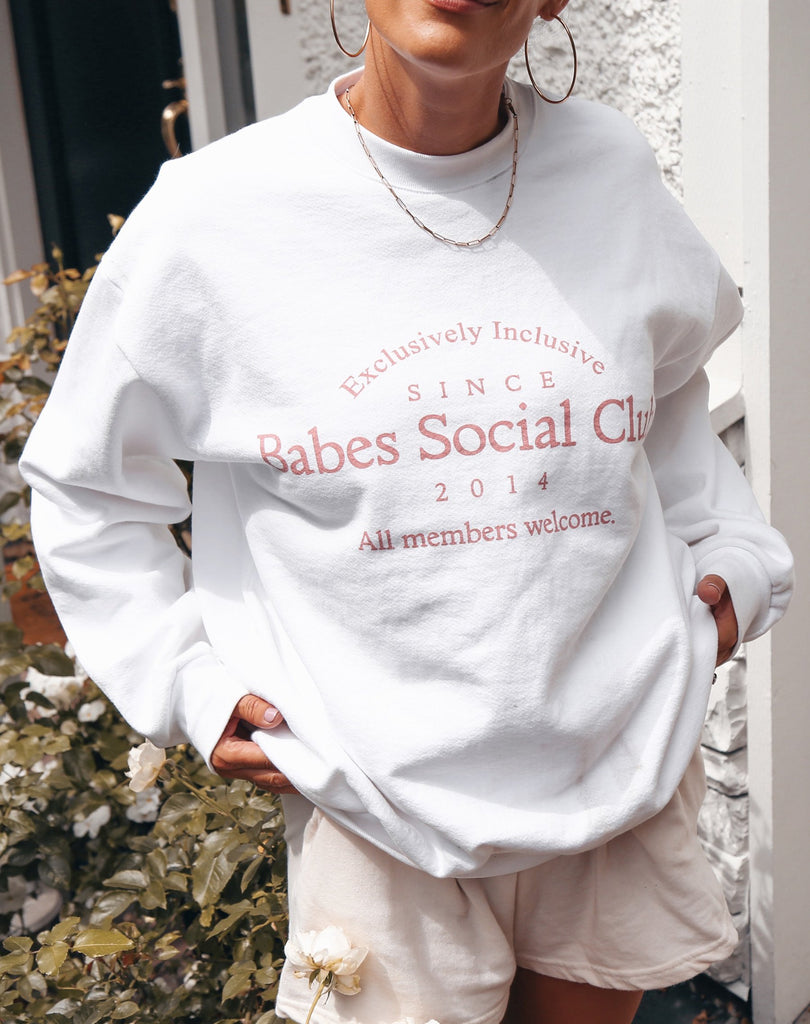 Babes Social Club Crew PINK