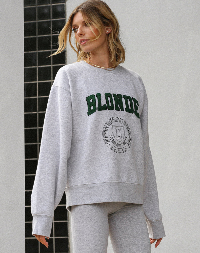 "The ""BLONDE VARSITY"" Step Sister Crew Neck Sweatshirt 