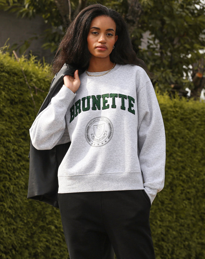 "The ""BRUNETTE VARSITY"" Step Sister Crew Neck Sweatshirt 