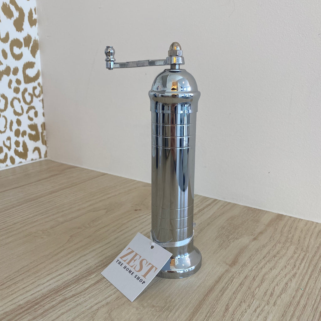 CHROME SALT & PEPPER MILLS