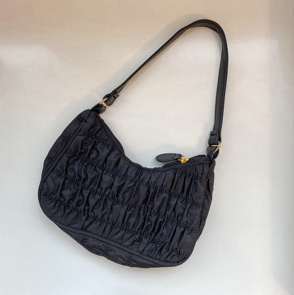 Black Ruched Purse