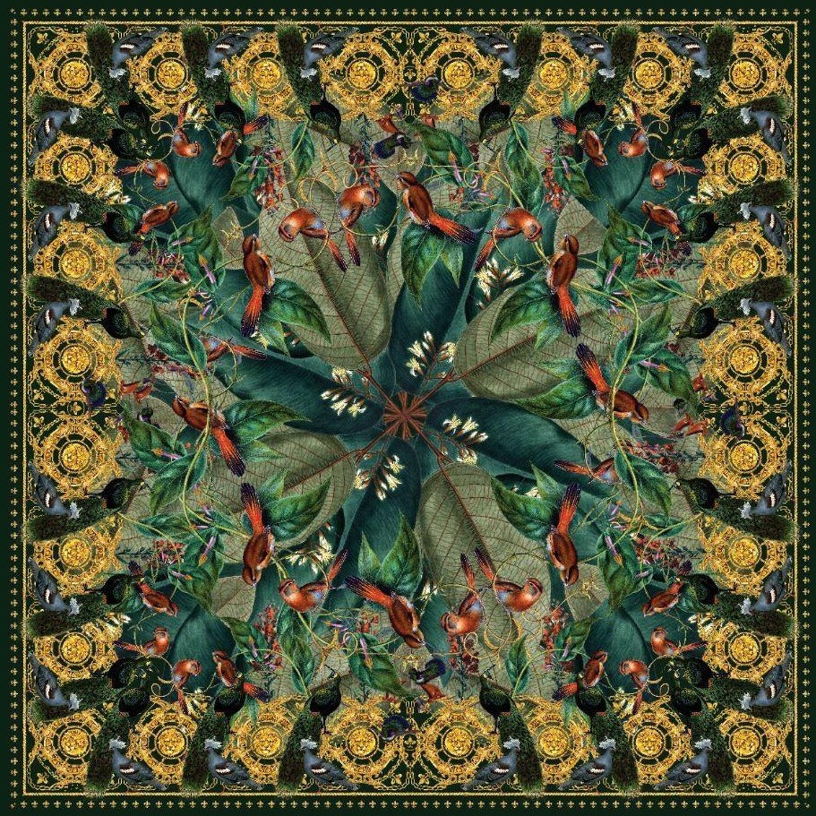 Into The Woods silk scarf - Alessandra Luciano