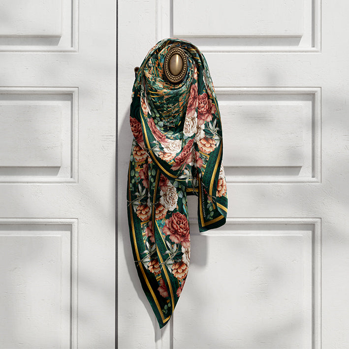 The Emerald City silk scarf - Alessandra Luciano