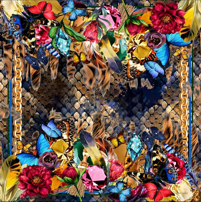 Bouquet of Beauty silk scarf - Alessandra Luciano