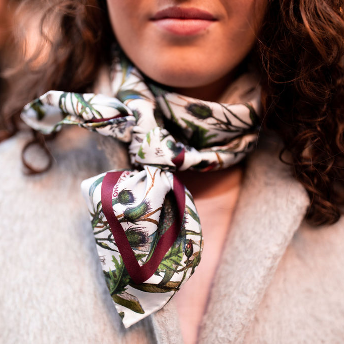 The Wind in the Willows Blue silk scarf - Alessandra Luciano