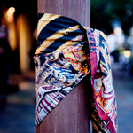 Katie's Circus silk scarf - Alessandra Luciano