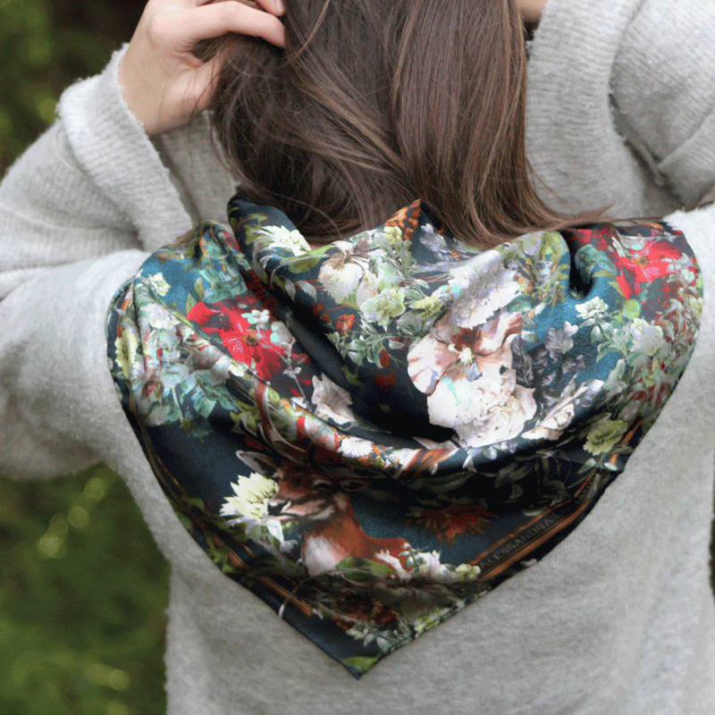 Woodlands silk scarf - Alessandra Luciano