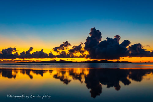 Sunrise over Kawau Island, NZ. Print.