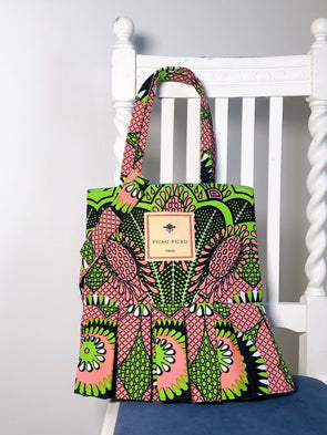 African Swing Bag -PINK LIME-