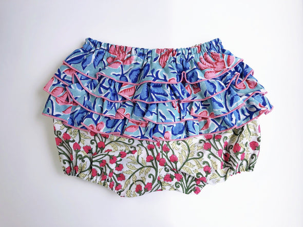 ⚘新入荷⚘ Baby Cheerful Frill Bloomer -BLUE-