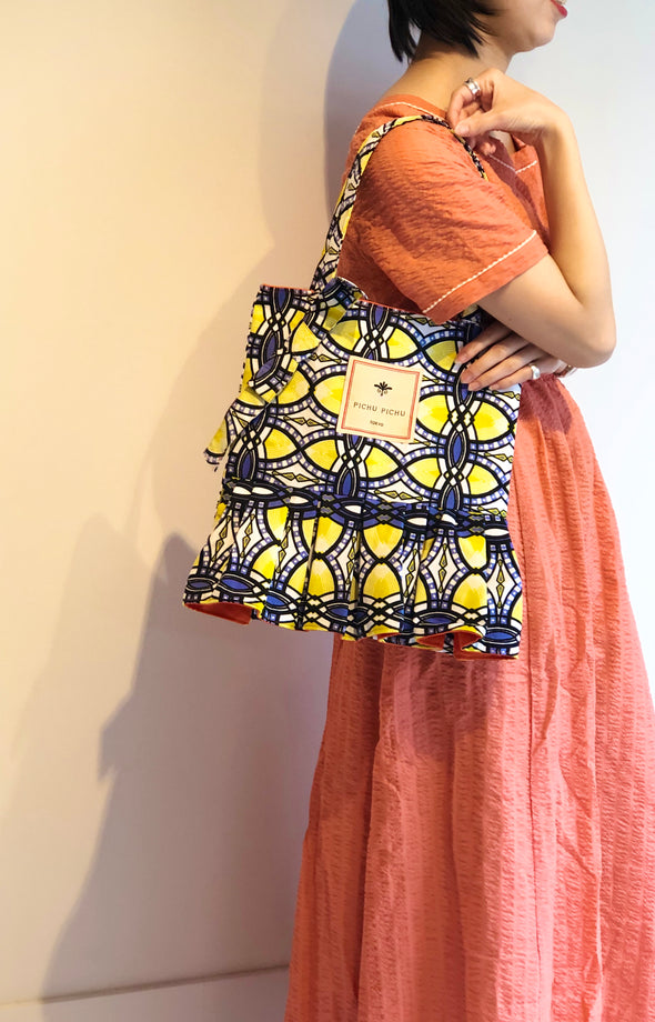 African Swing Bag -LEMON NAVY-
