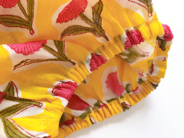 Baby Cheerful Frill Bloomer -YELLOW PINK-