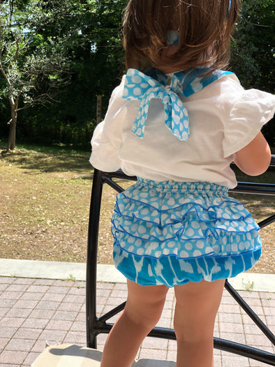 Baby Cheerful Frill Bloomer -BLUE-