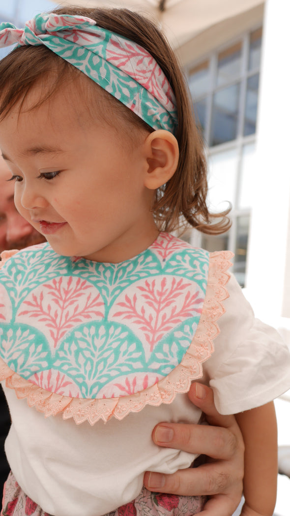 Baby Cheerful Frill Bloomer -CORAL-