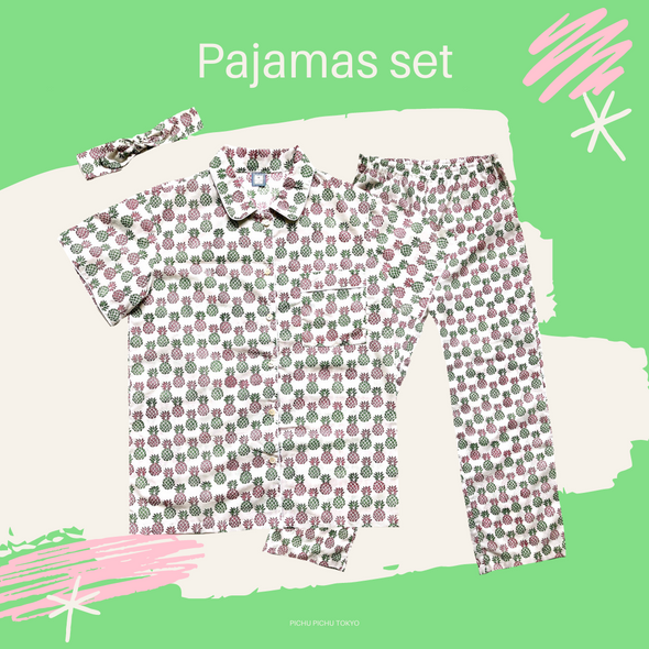 Cheerful Pajamas WOMEN -LIGHT GREEN-