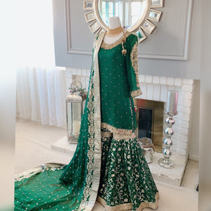 Green Nikah Outfit