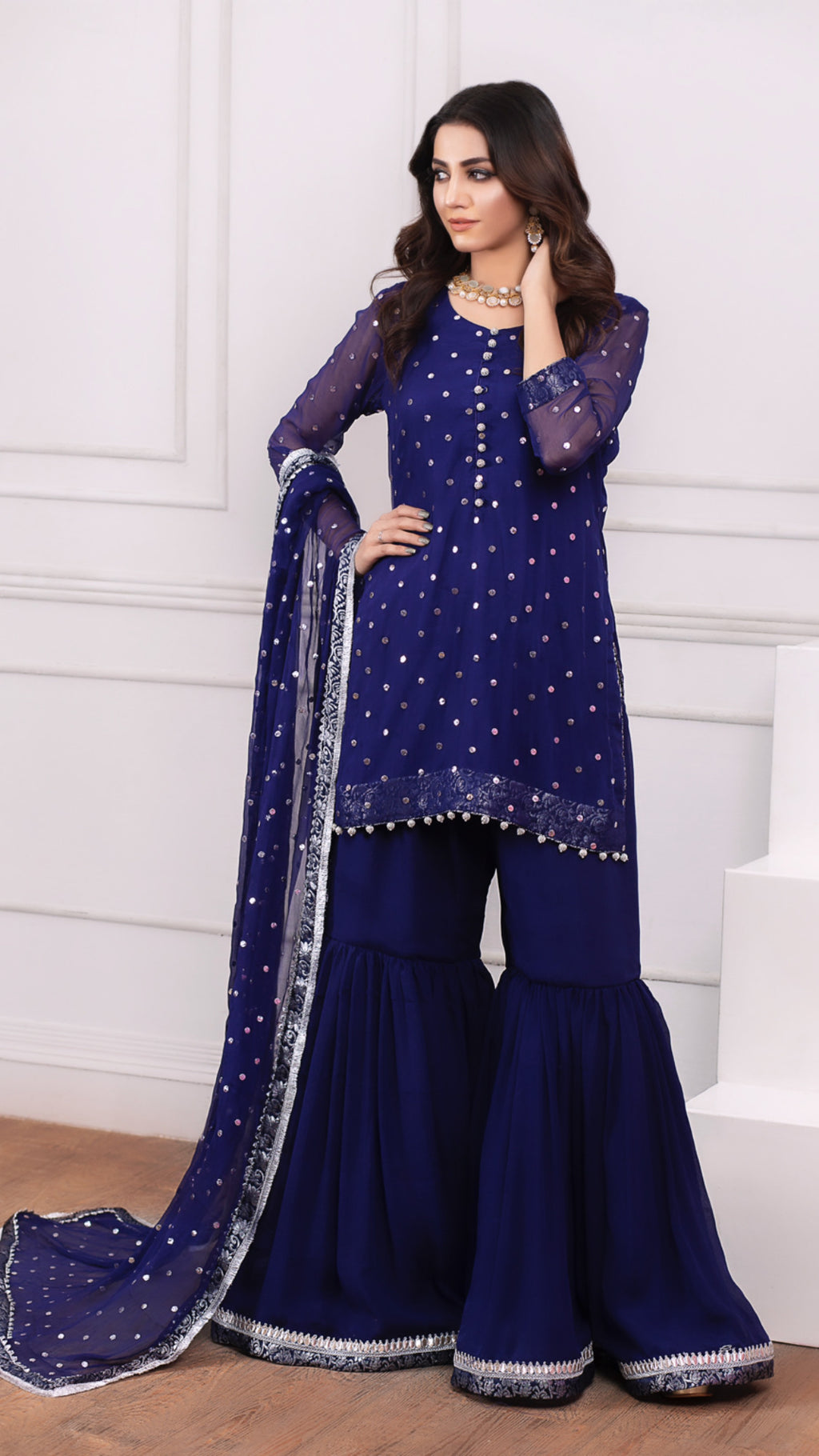 Navy Blue Kaamdani