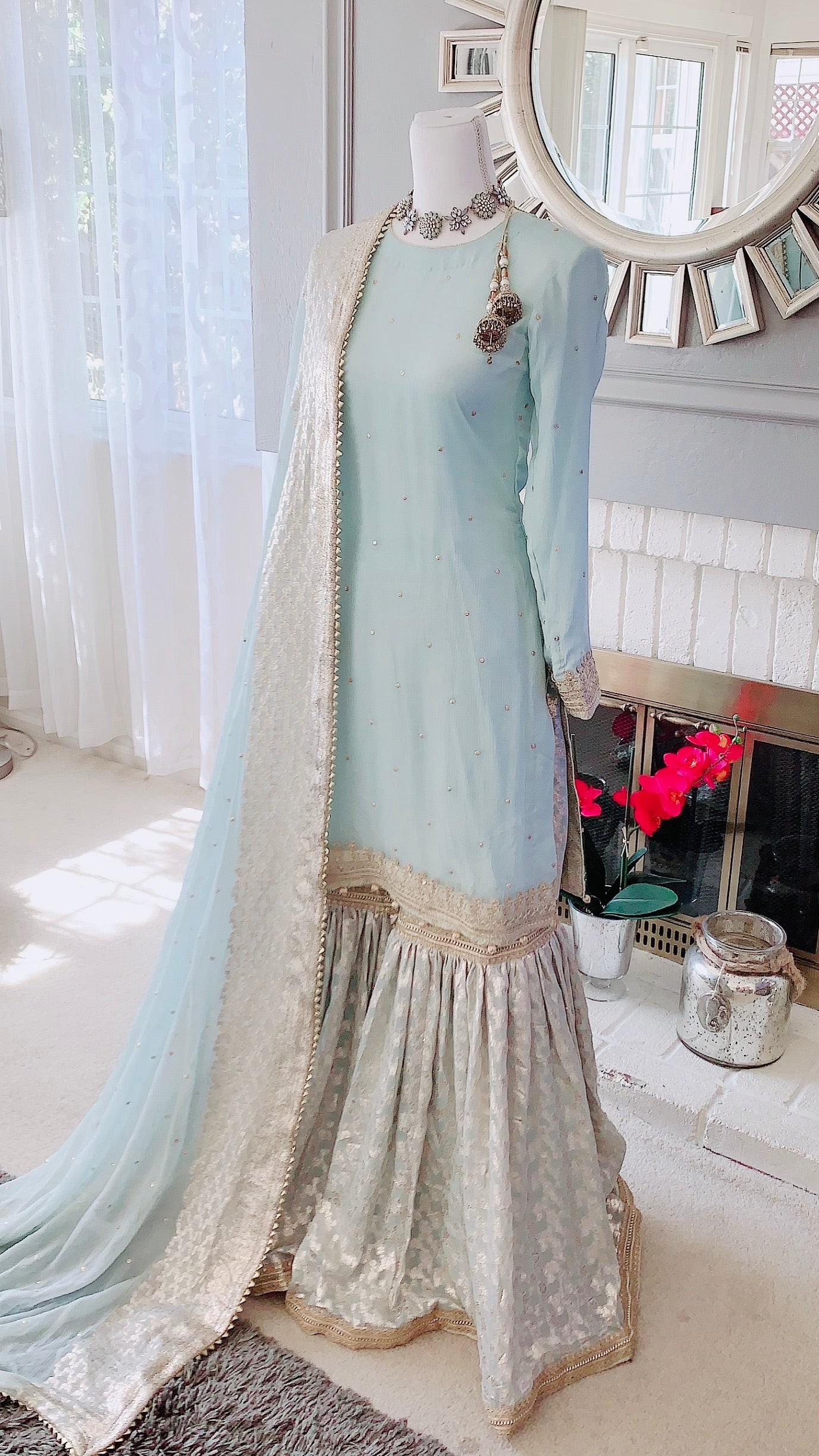 Ice Blue Gharara