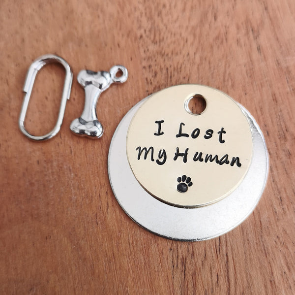 I lost my human dog cat tag pet tag #PoshTags
