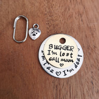 BUGGER I'm lost dog cat pet tag #PoshTags