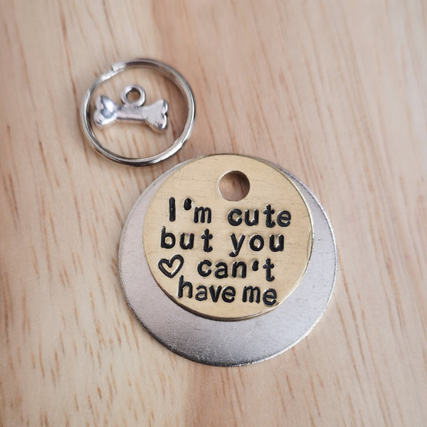 SMALLER TAGS puppy cat kitten I'm cute - dog cat pet tag #PoshTags