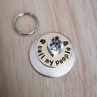 SMALLER TAGS call my people - puppy cat kitten - dog cat pet tag #PoshTags