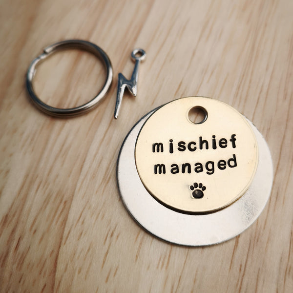 Mischief managed - call my muggles Harry Potter inspired dog tag pet tag #PoshTags
