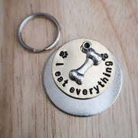 I eat everything - dog cat pet tag #PoshTags