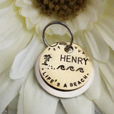 Life's a beach - palm tree Island scenery dog tag pet tag #PoshTags