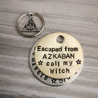 Escaped from Azkaban call my muggles Harry Potter inspired dog tag pet tag #PoshTags