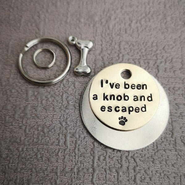 I've been a knob and escaped dog tag pet tag #PoshTags