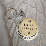 I'm an animagus - Harry Potter inspired dog tag pet tag #PoshTags