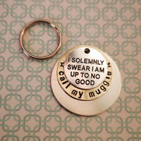 I solemnly swear I'm up to no good - call my muggles Harry Potter inspired dog tag pet tag #PoshTags