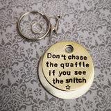 Don't chase the Quaffle if you see the Snitch -  dog pet id tag Harry Potter inspired #PoshTags