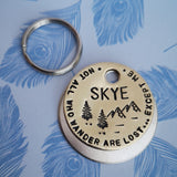 Not all who wander are lost - cat pet dog ID tag #PoshTags