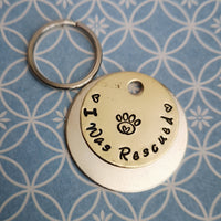 I was rescued - dog cat tag pet tag #PoshTags